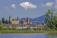Rapperswil with Castle and historic City, Canton of St. Gallen