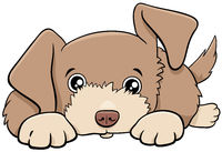 cartoon cute puppy comic animal character
