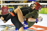 Orenburg, Russia - February 18, 2017 year: The fighters compete in mixed martial arts in the Champio