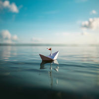 nice small paper boat