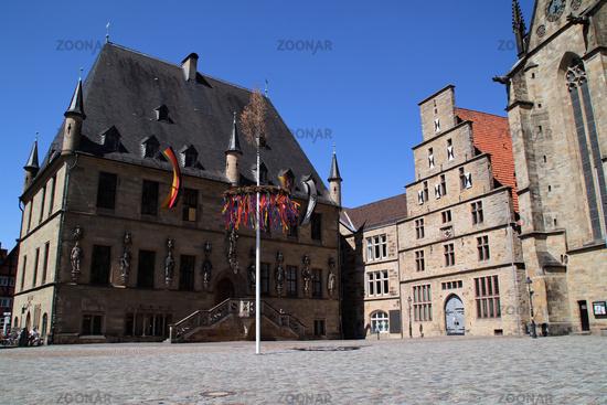 A maypole in Osnabrück