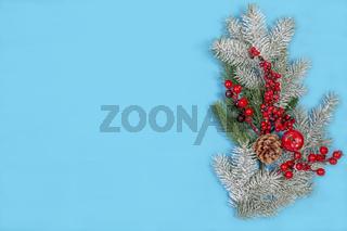 Festive Christmas card with a snow branch.