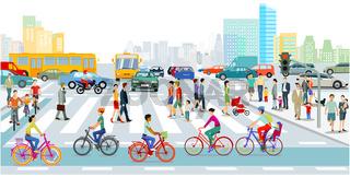 -Verkehr in der Stadt.eps