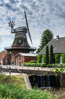 Windmill, Westgroßefehn, Krummhoern, East Frisia, Lower Saxony, Germany