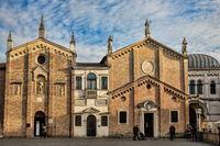 padua, italy - 03/19/2019 - piazza del santo with oratory of saint georg and scuola del santo