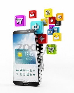 Applications downloading in smartphone