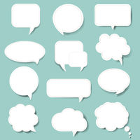 Speech Bubble With Mint Background