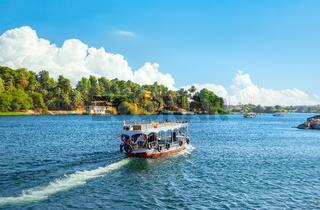 Touristic boat in Aswan