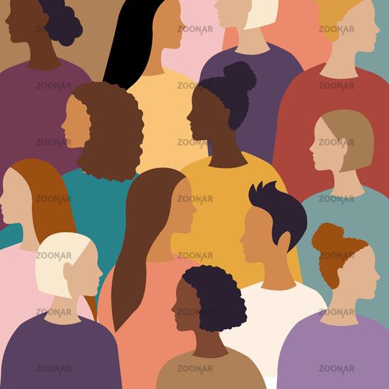 Different Women Female Diverse Faces Poster