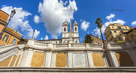 At the Spanish Steps in Rome Lazio Italy