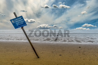 Hinweisschild Schutzzone Vogelschutzgebiet
