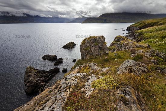 Landscape at Nordfjoerdur, Iceland, Europe