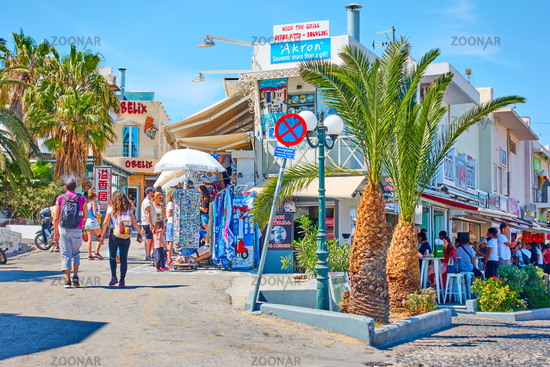 Shopping street in Fira