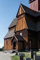 Stave church in Ringebu, Norway