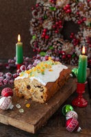 Fruit loaf for Christmas