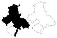Siauliai City (Republic of Lithuania) map vector illustration, scribble sketch City of Siauliai map