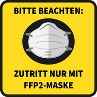 wear N95 FFP2 mask sign in German