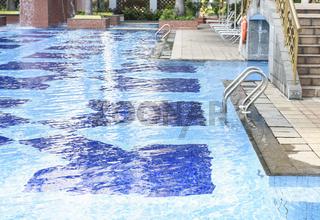 Fresh water in swimming pool area