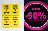 poster Only 2 days left, up to 90 percent reduced, business closure, Witten, Germany, Europe