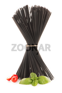 Bunch of black spaghetti