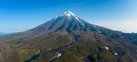Aerial panorama of Koryaksky volcano