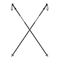 Nordic Walking Stick Icon Isolated on White Background