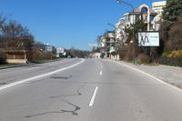 Empty streets of Sofia during Coronavirus covid-19 outbreak.