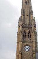 he tower of the demolished victorian square church in halifax west yorkshire next to the piece hall