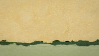 abstract paper landscape in green and yellow pastel tones