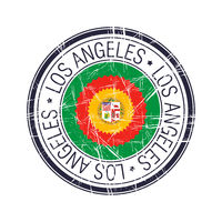 City of Los Angeles, California vector stamp