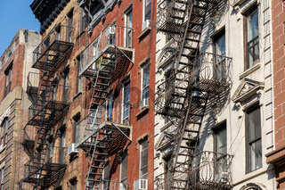 Buildings with Fire Escape in Manhattan, NYC