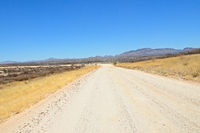 Gravel road to Sossusvlei in Namibia
