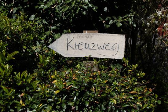 A sign cross way