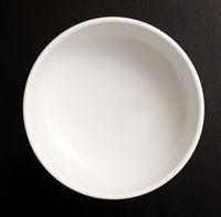 Plate on black