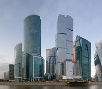 High-rise buildings of the Moscow business center Moscow City