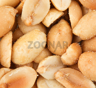 Close-Up Of Peeled Peanuts Background