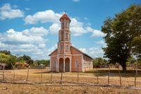 Small christian church in rural area, Madagascar