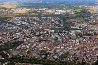 Landau in der Pfalz aus der Vogelperspektive