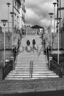 Die Treppe hinauf...
