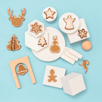 Cristmas gingerbread cookies canvas, copy space