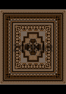 Unique carpet pattern in brown tones