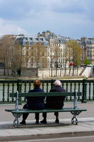 Pensioners at the Seine
