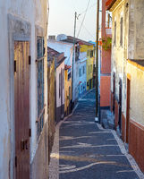 Old street architecture Madeira Portugal
