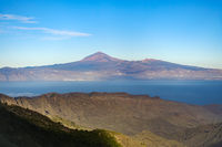 View from La Gomera to the island Tenerife