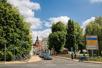 Gustrow, Germany - 07.06.2019 - City panorama with Maria Church in the background