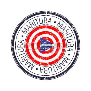 City of Marituba, Brazil vector stamp