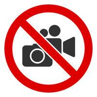 Flat Raster No Photo Video Recording Icon