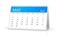 table calendar 2021 may