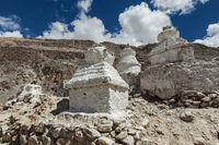 Chortens Tibetan Buddhism stupas in Himalayas