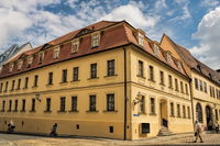 Halle Saale, Germany - June 21, 2019 - historic home of Johann Gottfried Handel